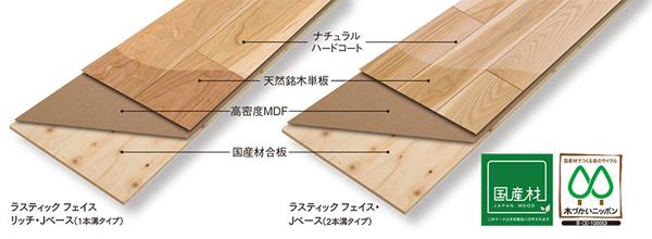 銘木単板を生かした意匠性